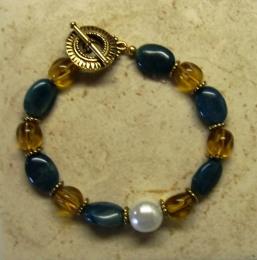 Gemstone Apatite Bracelet